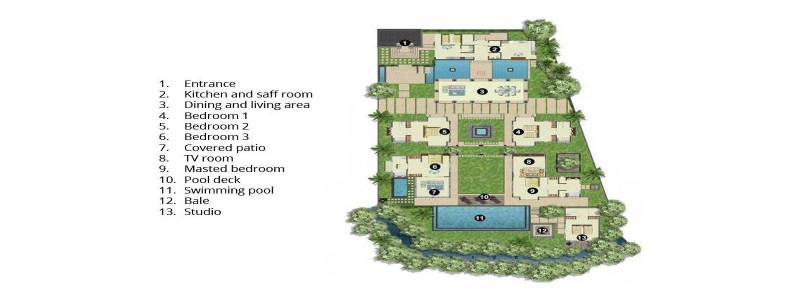 Villa Mata Air Floorplan | Canggu, Bali