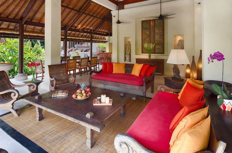 Villa Bougainvillea Open Plan Living Area | Canggu, Bali