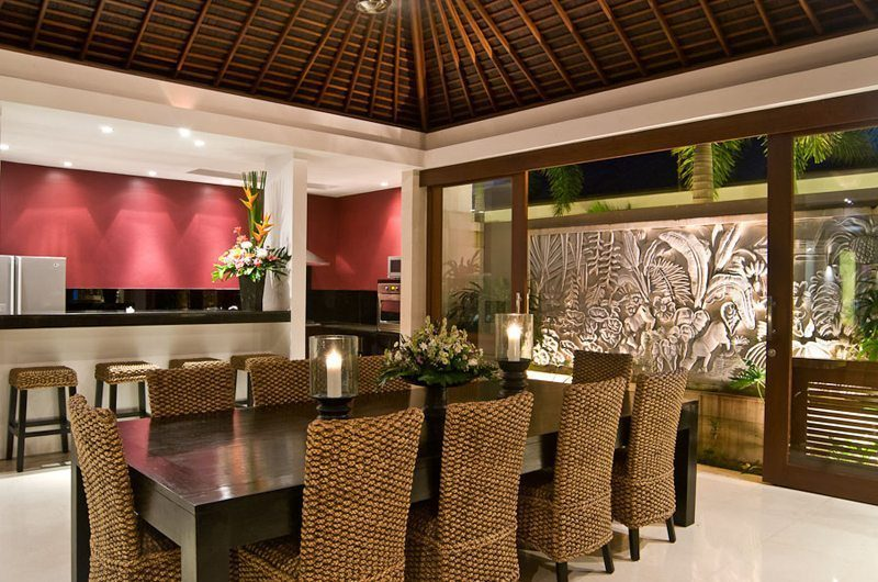 Chandra Villas Dining Area & Kitchen Area | Seminyak, Bali