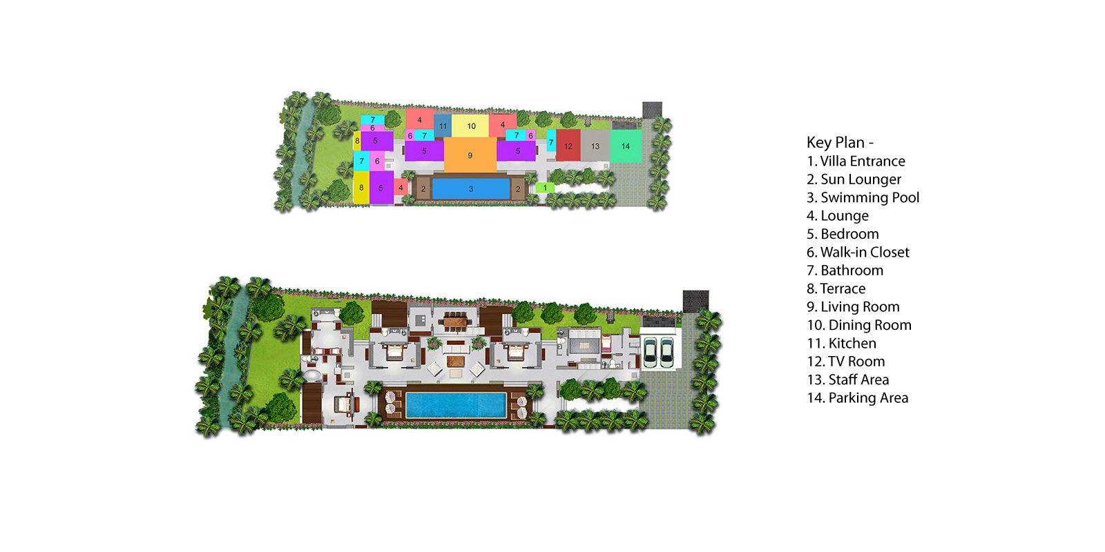Villa Hana Floorplan | Canggu, Bali