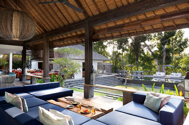 Villa Levi Open Plan Living Area with Pool View | Canggu, Bali