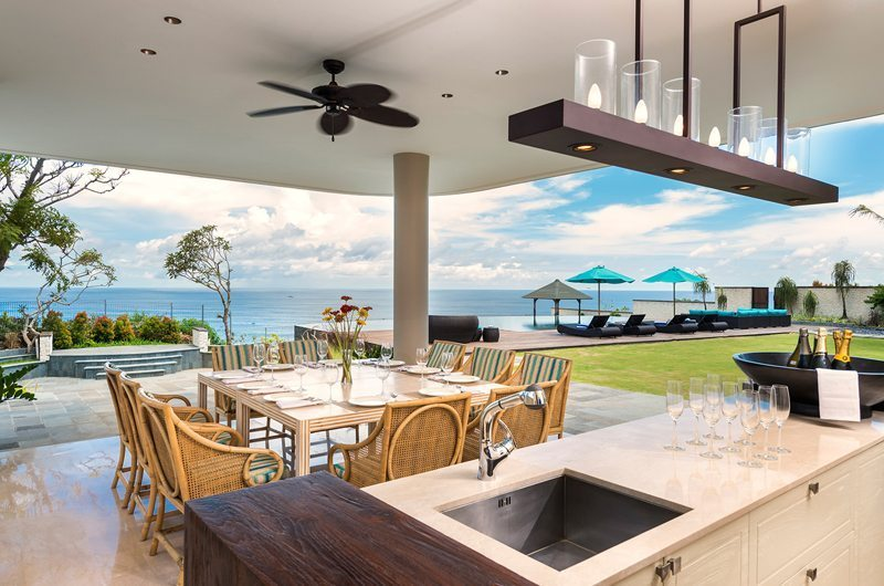 Pandawa Cliff Estate Outdoor Bar & Dining Area | Uluwatu, Bali