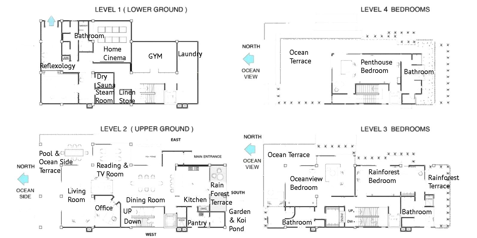 The Luxe Bali Floor Plan | Uluwatu, Bali