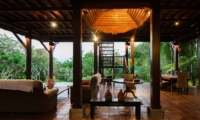Atas Awan Villa Indoor Living Area With Pool View | Ubud, Bali