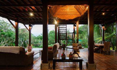 Atas Awan Villa Indoor Living Area With Pool View | Ubud, Bali