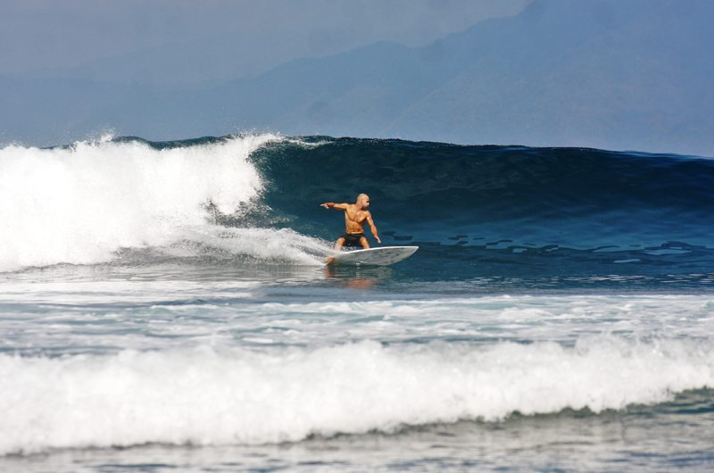 Surfing the Waves in Bali