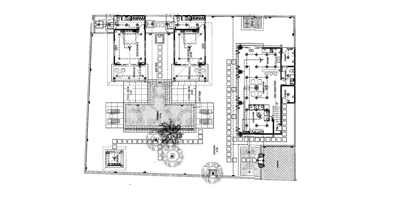 Villa Cemara Floorplan | Seminyak, Bali