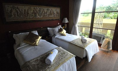Villa Bayad Bedroom with Twin Beds   Ubud, Bali