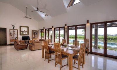 Villa Griya Aditi Indoor Dining Area with Pool View | Ubud, Bali