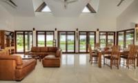Villa Griya Aditi Indoor Living Area with Pool View | Ubud, Bali