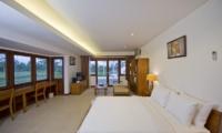 Villa Griya Atma Bedroom with TV   Ubud, Bali
