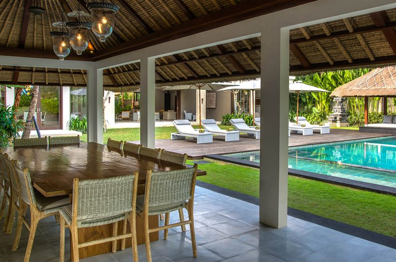 Seseh Beach Villas Seseh Beach Villa 2 Dining Area with Pool View | Seseh, Bali
