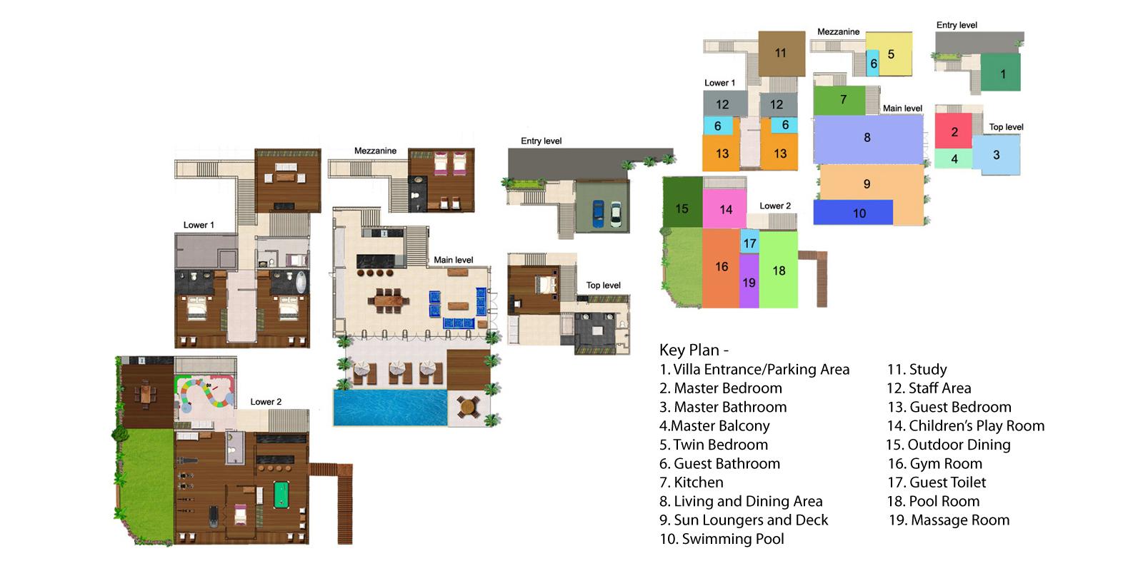 Villa Napalai Floorplan   Surin, Phuket