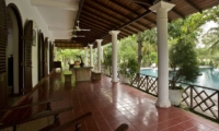 Ocean's Edge Outdoor Dining Area | South Coast, Sri Lanka