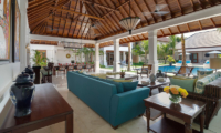 Windu Villas Villa Windu Asri Living Area with Pool View | Petitenget, Bali