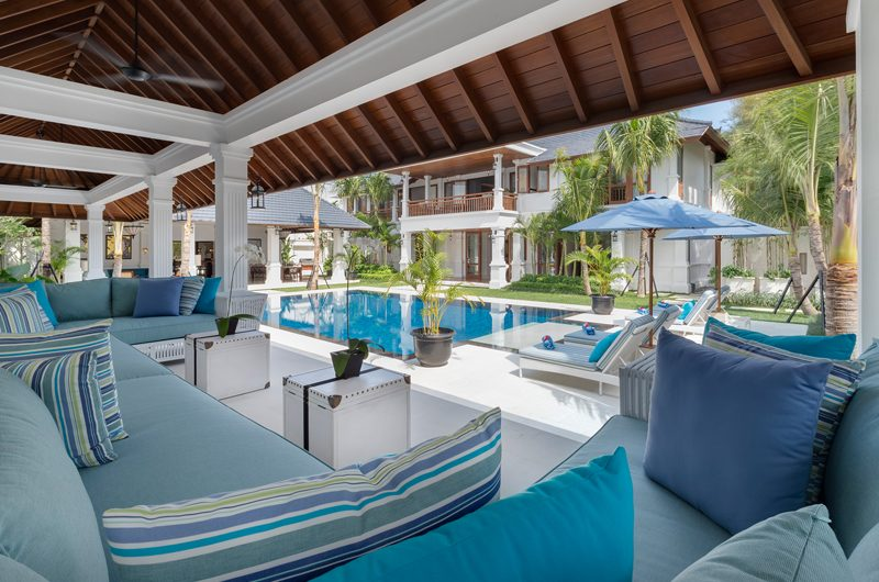 Windu Villas Villa Windu Asri Indoor Living Area with Pool View | Petitenget, Bali