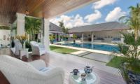 Windu Villas Villa Windu Asri Pool Side Seating Area | Petitenget, Bali