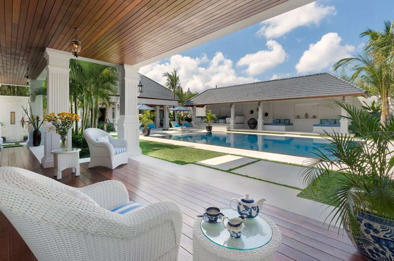Windu Villas Villa Windu Asri Pool Side Seating Area | Petitenget, Bali