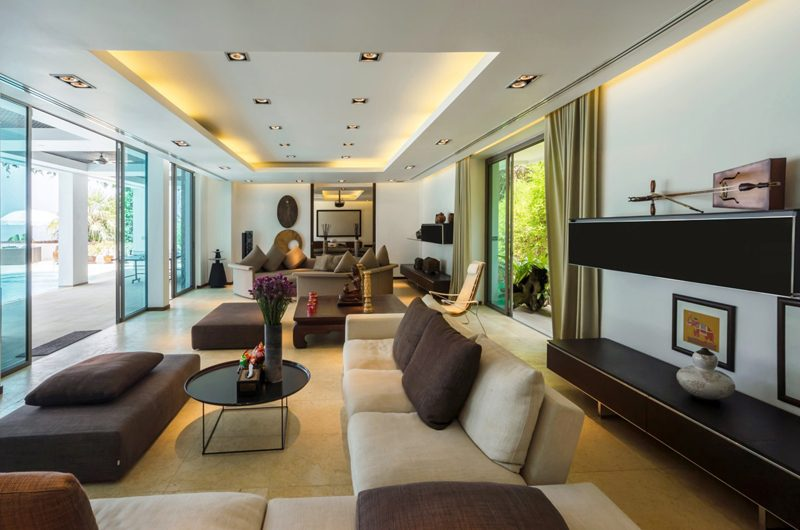 Waterfall Bay Indoor Living Area | Kamala, Phuket
