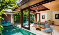 Maca Villas 1BR Deluxe Living Area | Seminyak, Bali