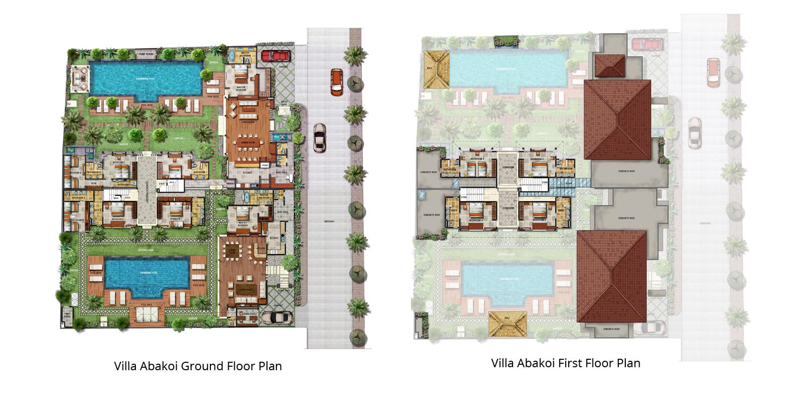 Villa Abakoi Floor Plan | Seminyak, Bali