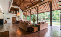 Villa Tirtadari Living Area with Garden View | Umalas, Bali
