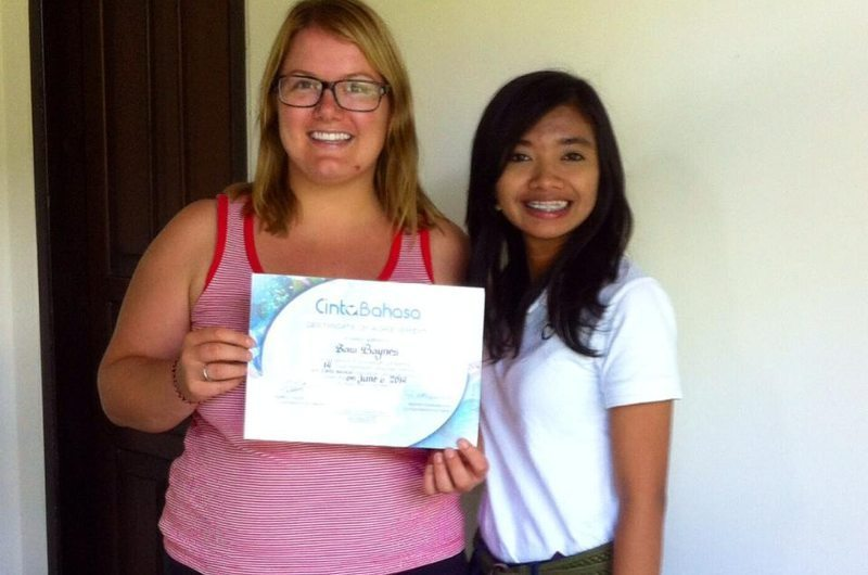Learning Bahasa in Bali