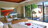 Berry Amour Romantic Villas Desire Villa Bedroom Side View | Batubelig, Bali