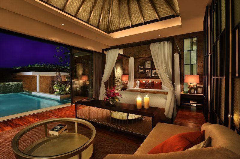 Berry Amour Romantic Villas Mystique Villa Bedroom Front View | Batubelig, Bali