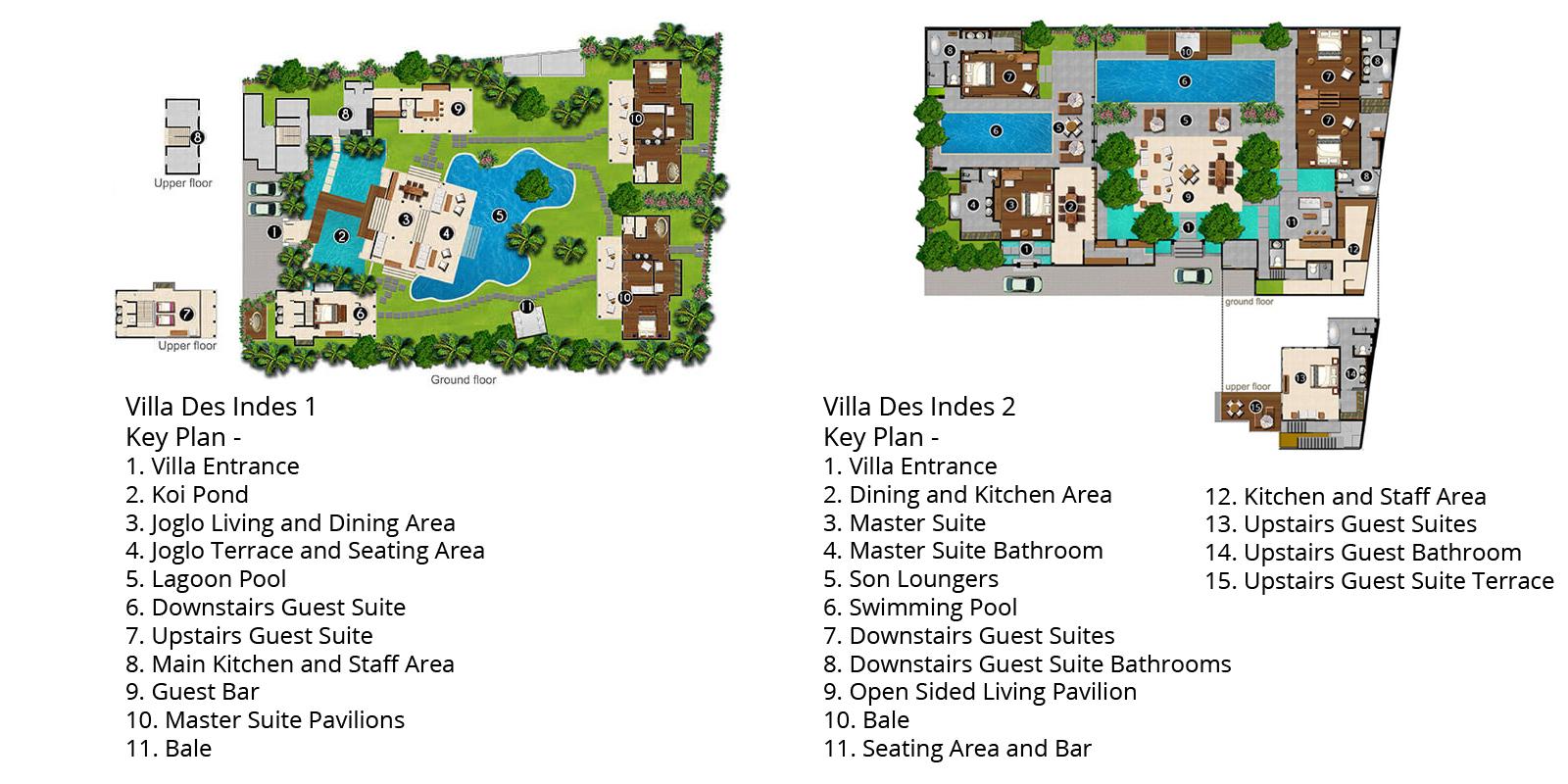 Des Indes Villas Floorplan | Seminyak, Bali