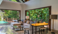 Villa Indah Ungasan Indoor Living Area with Pool View | Uluwatu, Bali