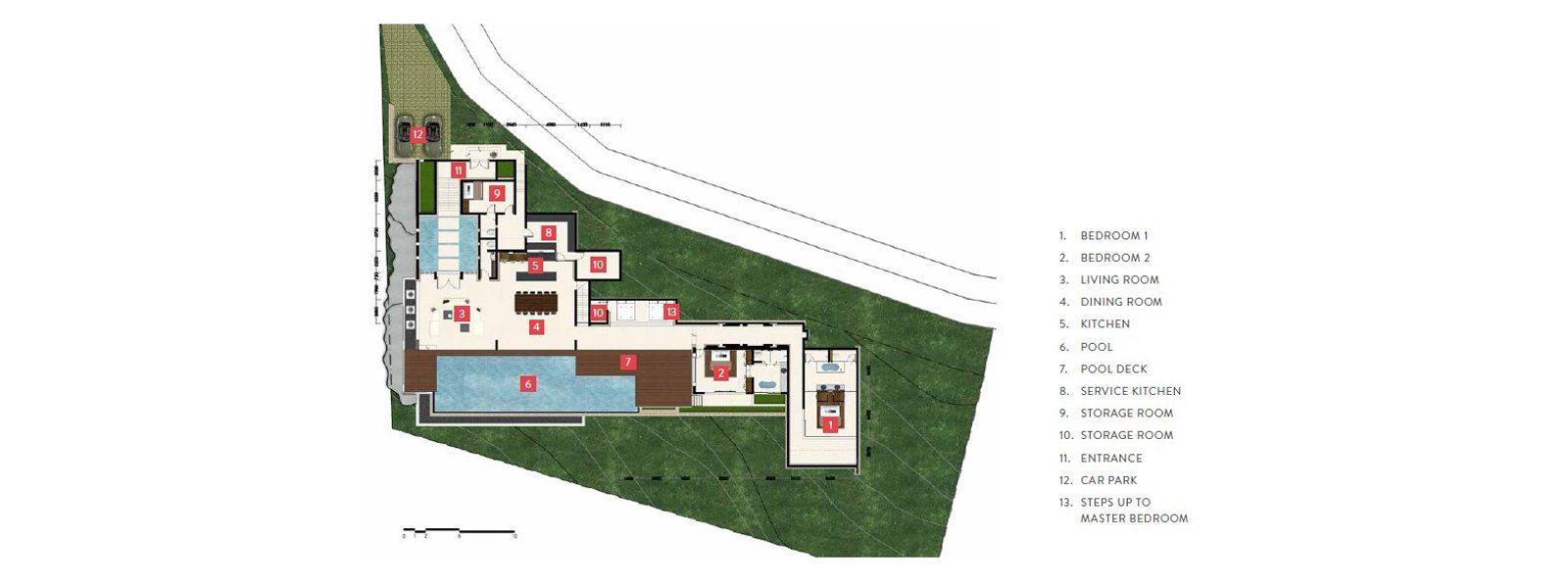 Samujana 3 Floorplan | Choeng Mon, Koh Samui
