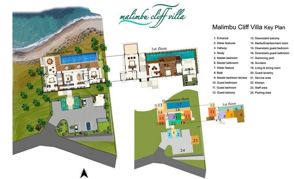 Malimbu Cliff Villa Floor plan