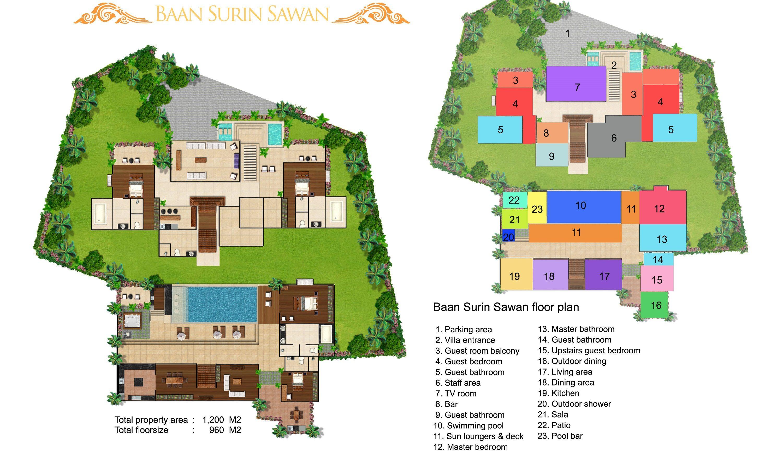 Baan Surin Sawan Floorplan | Surin, Phuket