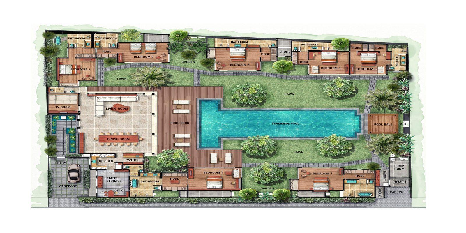 Villa Tiga Puluh Floorplan | Seminyak, Bali