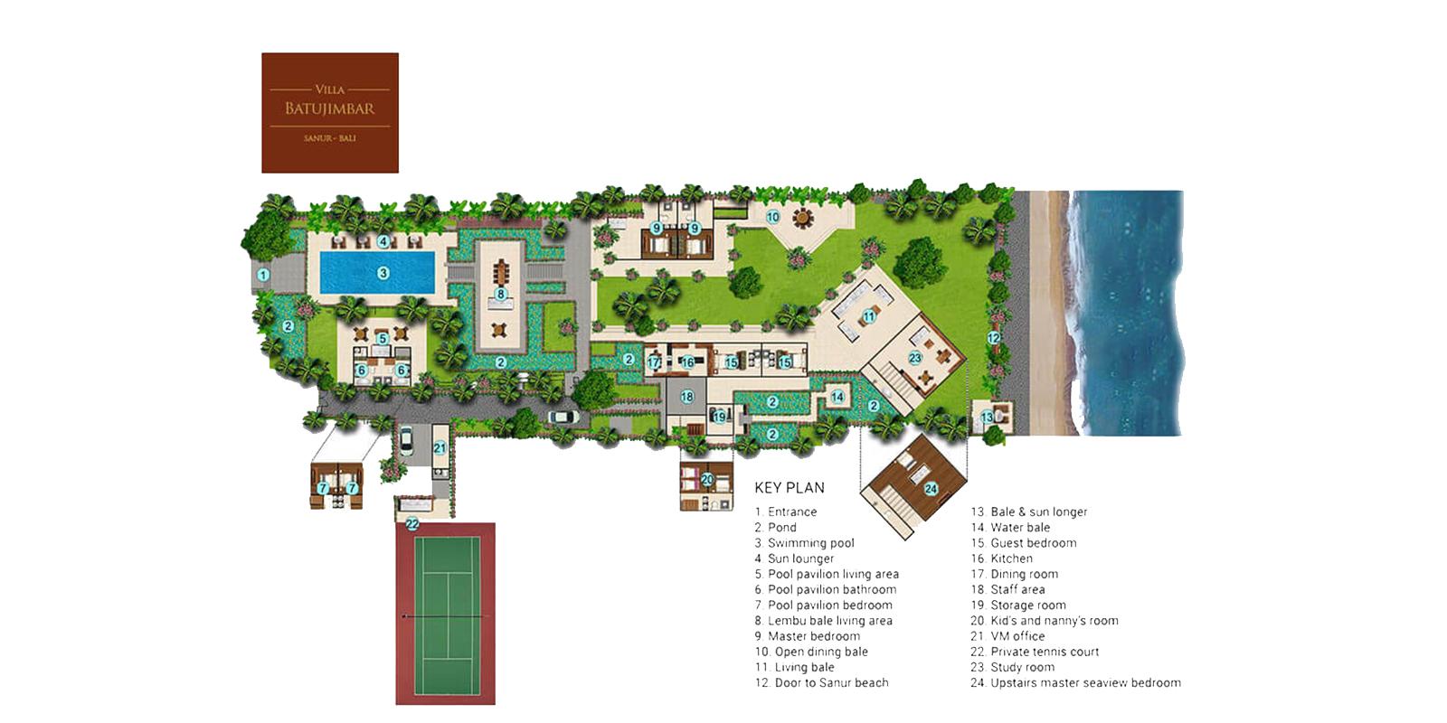 Villa Batujimbar Floor Plan | Sanur, Bali