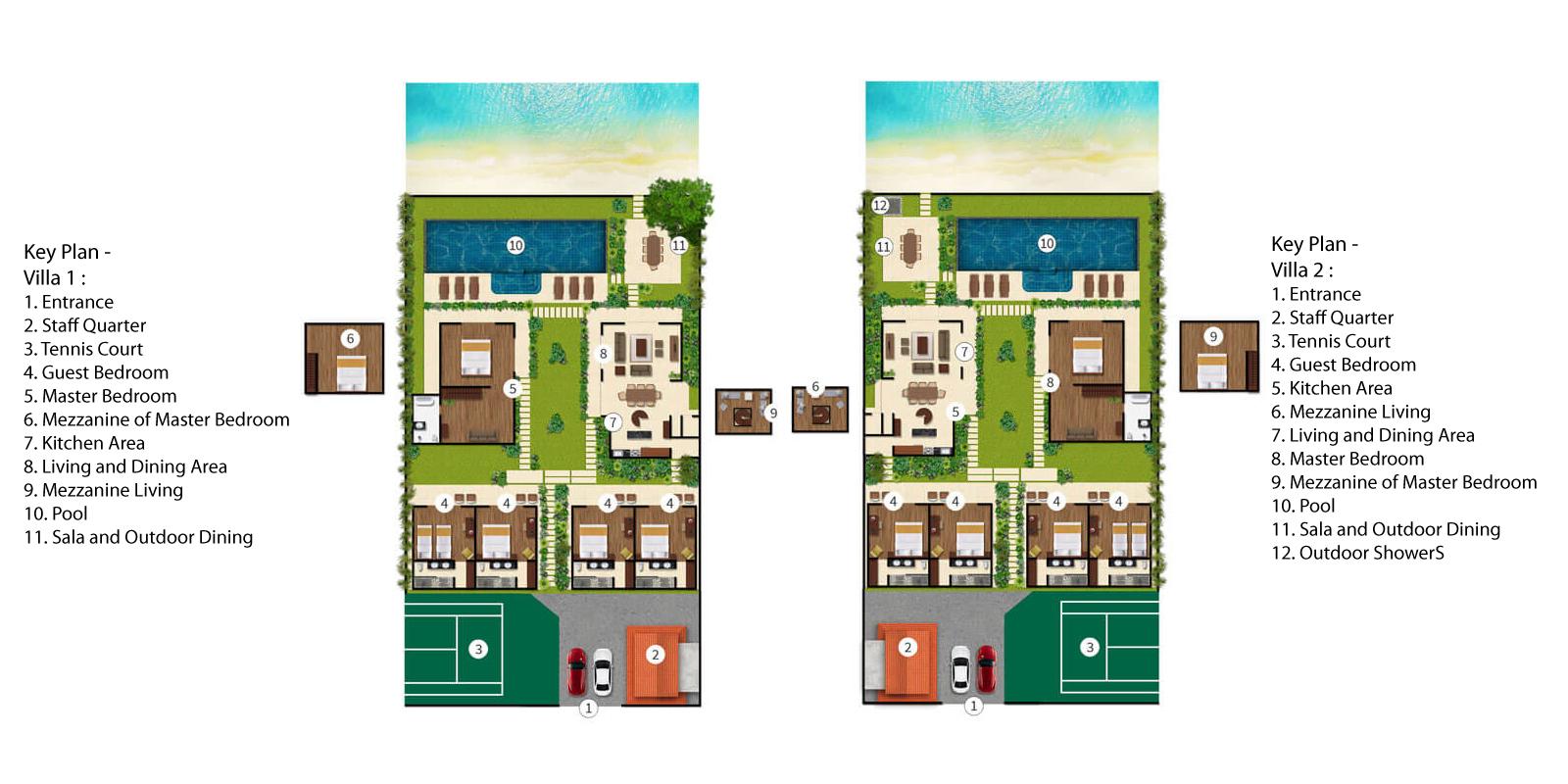 Baan Tawantok Estate Floorplan | Lipa Noi, Koh Samui