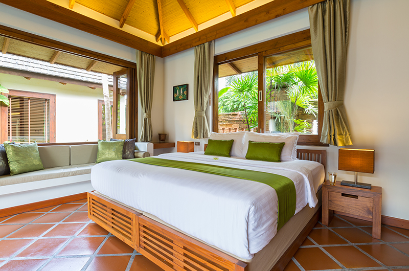 Baan Mika Bedroom One with Lamps | Choeng Mon, Koh Samui