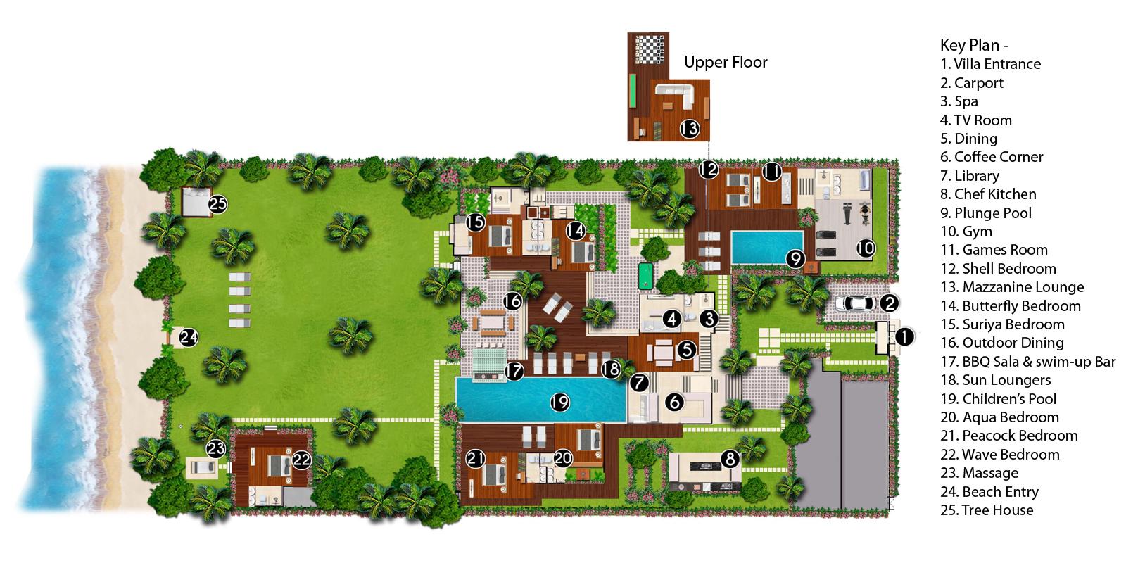 Ban Suriya Floorplan | Lipa Noi, Koh Samui