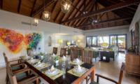 Bougainvillea Villa Living and Dining Area | Maenam, Koh Samui