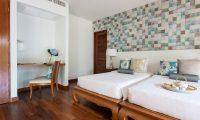 Bougainvillea Villa Twin Bedroom with Study Table | Maenam, Koh Samui