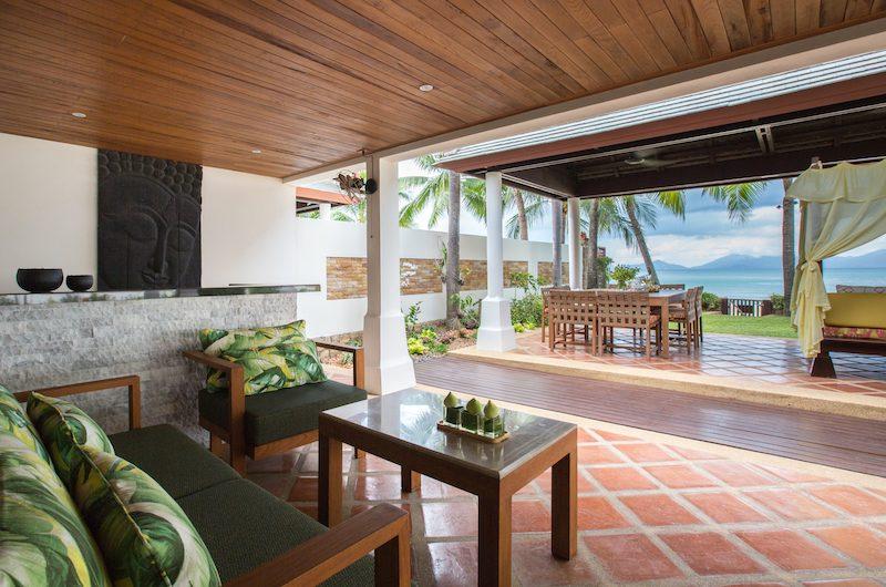 Bougainvillea Villa Open Plan Seating | Maenam, Koh Samui