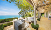 The Headland Villa 1 Seating with Ocean's View | Taling Ngam, Koh Samui