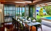 Villa Akatsuki Dining Area with Pool View   Lipa Noi, Koh Samui