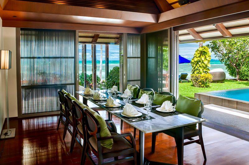 Villa Akatsuki Dining Area with Pool View | Lipa Noi, Koh Samui