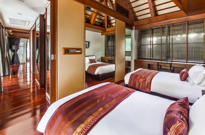 Villa Akatsuki Twin Bedroom View   Lipa Noi, Koh Samui