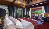 Villa Akatsuki Bedroom and Balcony   Lipa Noi, Koh Samui