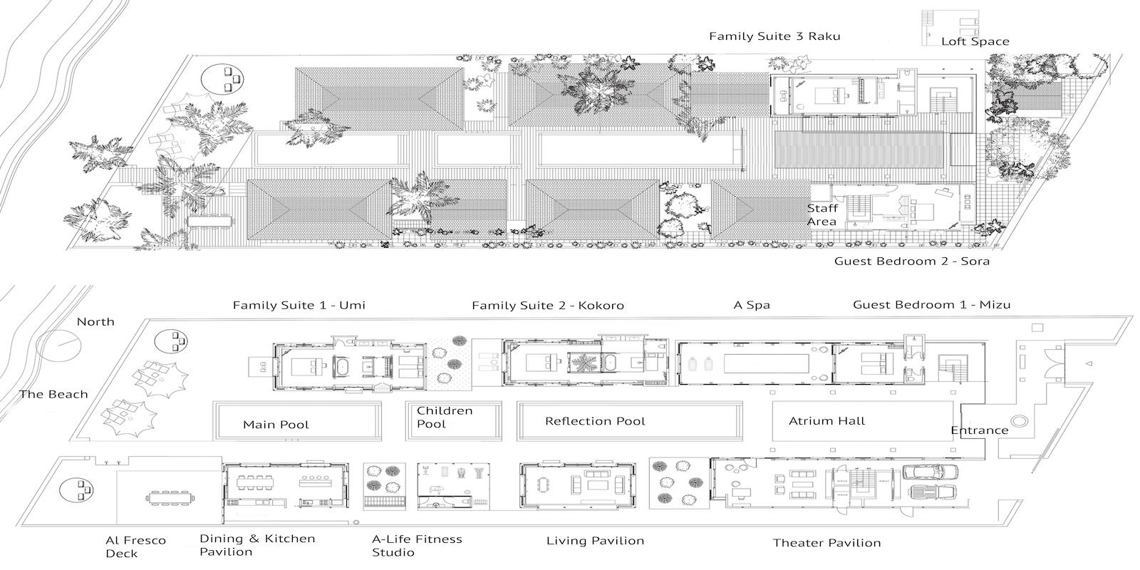 Villa Akatsuki Floor Plan | Lipa Noi, Koh Samui