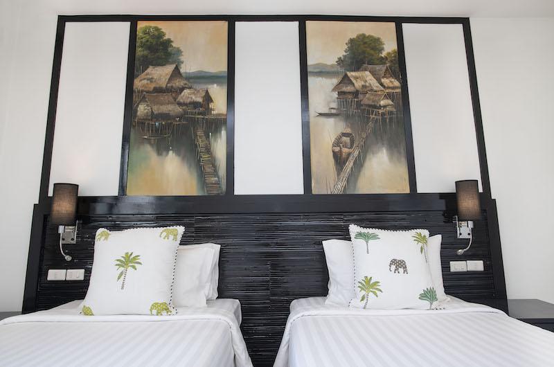 Villa Champak Twin Bedroom Area | Maenam, Koh Samui