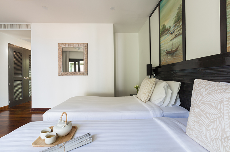 Villa Champak Single Beds Side | Maenam, Koh Samui